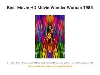 Best Movie HD Movie Wonder Woman 1984
