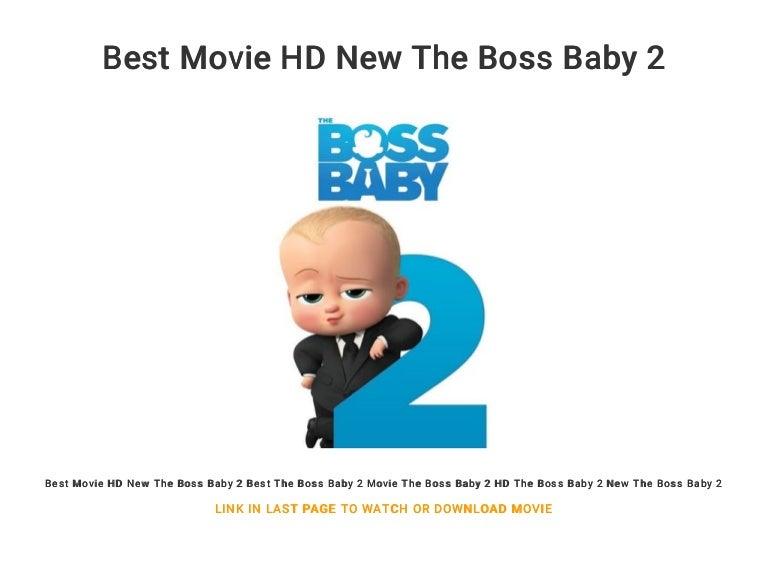 Best Movie Hd New The Boss Baby 2