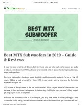 Mtx subwoofer 12 inch - mtx 12 inch subs - mtx subwoofer - mtx subs