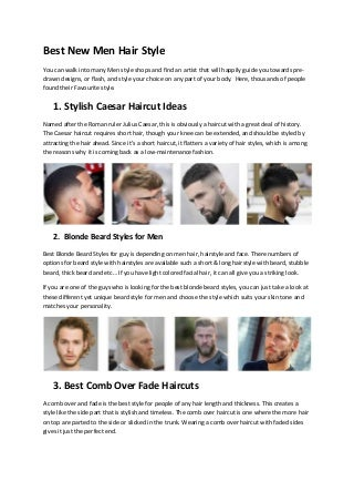 Best new men hair style