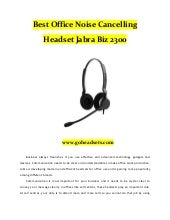 Best office noise cancelling headset jabra biz 2300