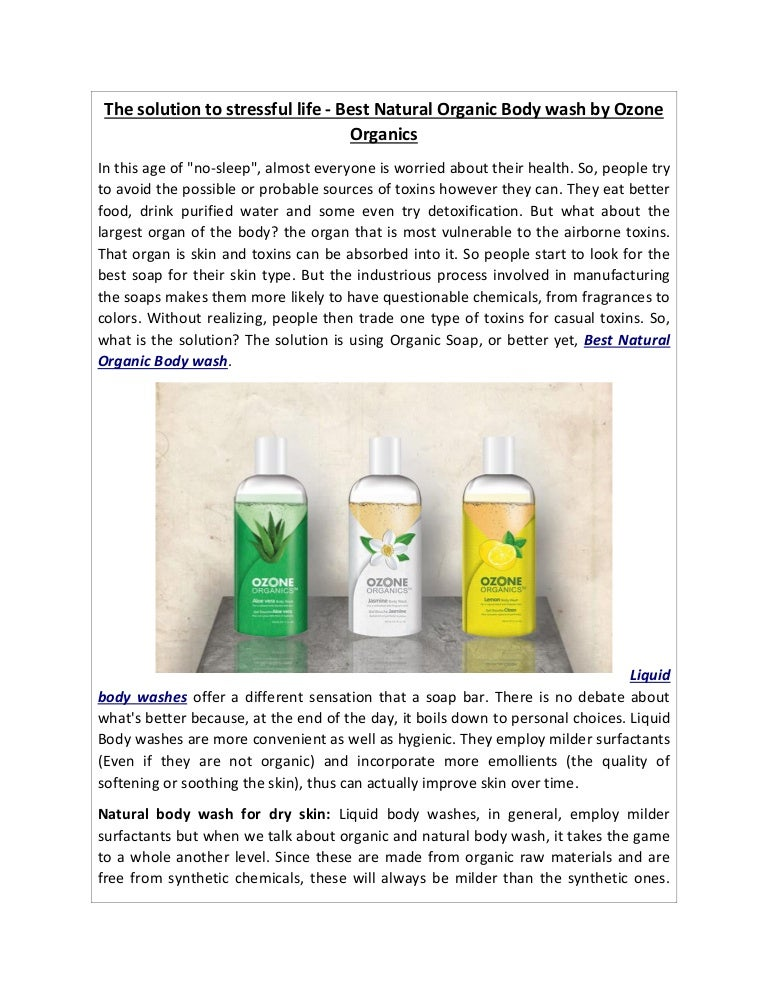 Body Wash For Dry Skin