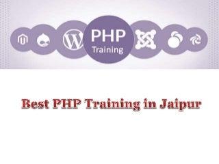 Best php training in jaipur