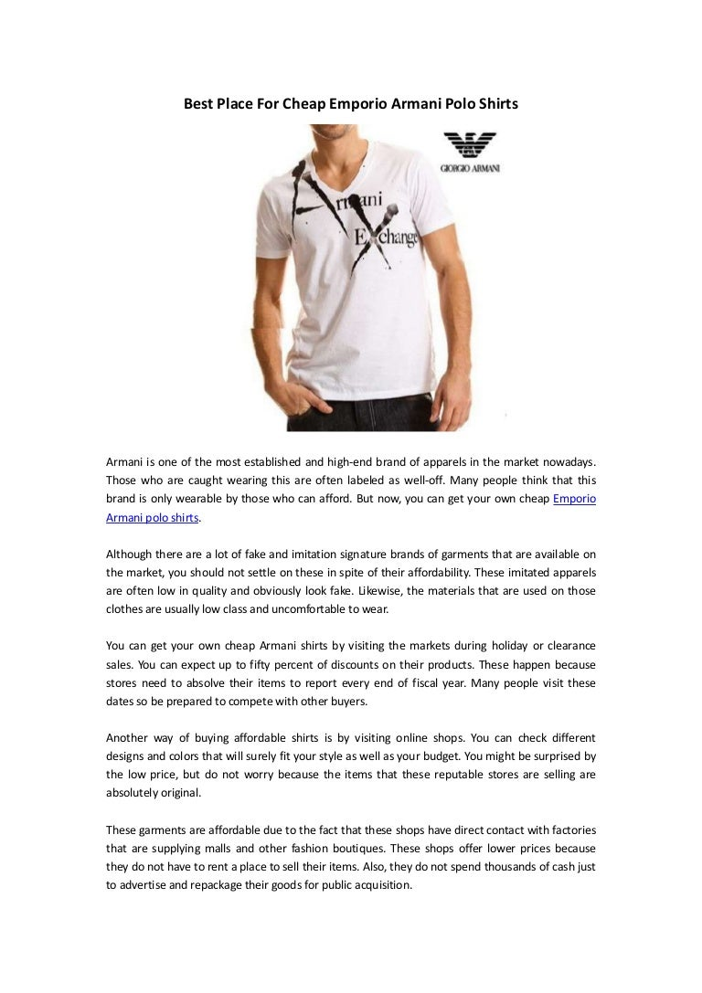Best Place For Cheap Emporio Armani Polo Shirts