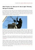 Best practice as become so successful chimney sweeps in london