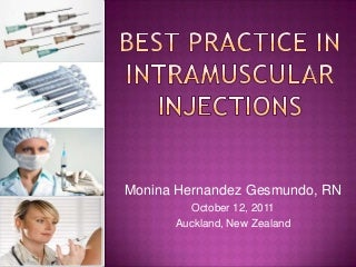 Best practice in intramuscular injections