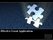 Best practices    effective grant applications
