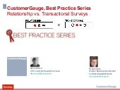 Best practice series, relationship vs. transactional, surveys - what is best for Net Promoter?