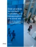 Best Practices for Sales and Marketing in the Social Era