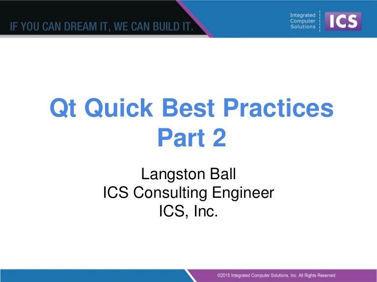 Best Practices in Qt Quick/QML - Part II