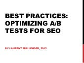 Best practices: Optimizing A/B tests for SEO