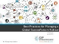 Best Practices for Managing a Global SuccessFactors Rollout