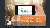 MobiWeb - Best Practices for SMS Marketing