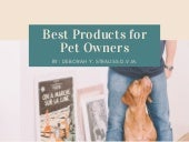 Best Products for Pet Owners