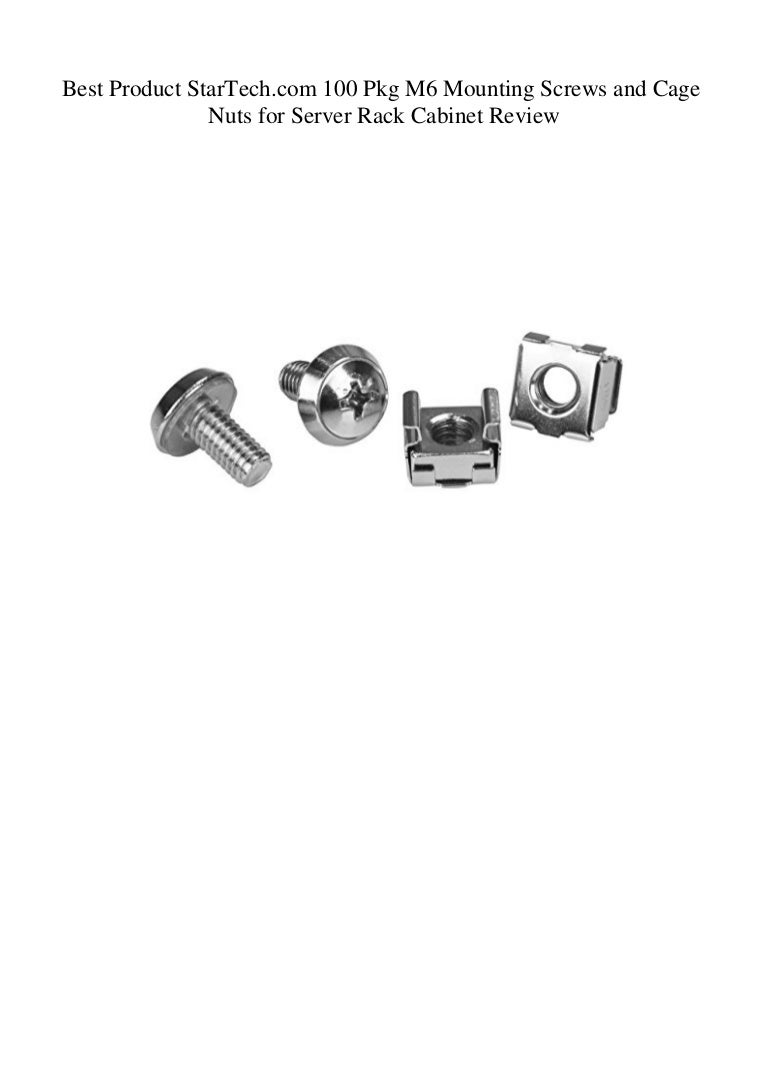 50 Pkg M6 Mounting Screws and Cage Nuts for Server Rack Cabinet