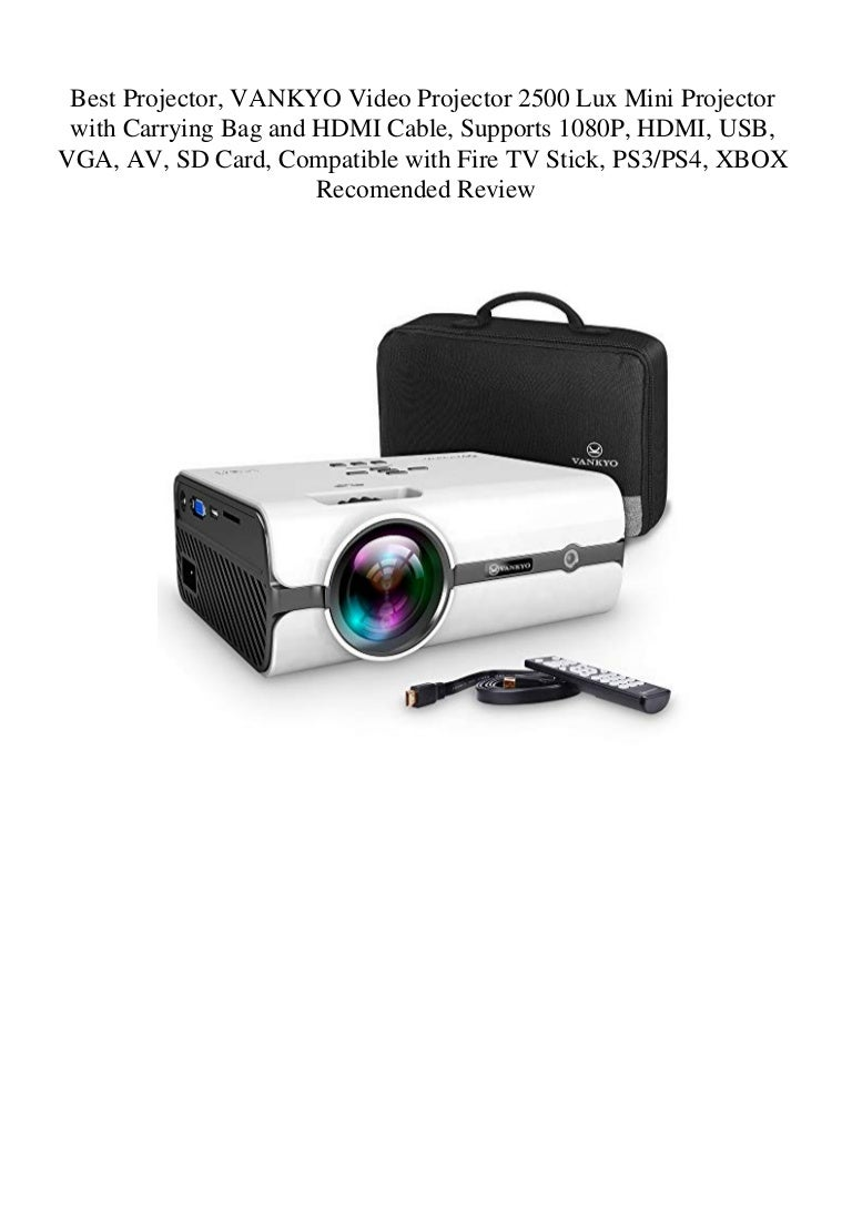 Best Projector Vankyo Video Projector 2500 Lux Mini Projector With C