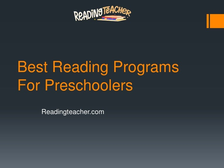Best reading programs for preschoolers -  readingteacher.com