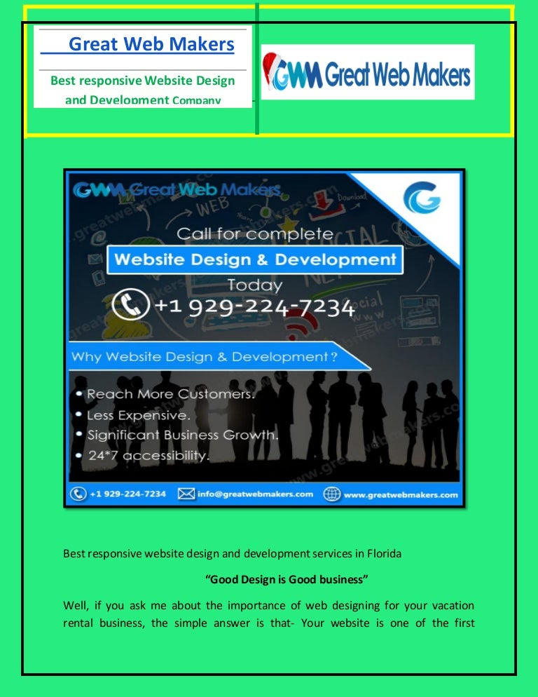 Best Responsive Website Design And Development Company In Florida