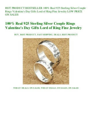 BESTSELLER 100% Real 925 Sterling Silver Couple Rings Valentine's Day Gifts Lord of Ring Fine Jewelry LOW PRICE