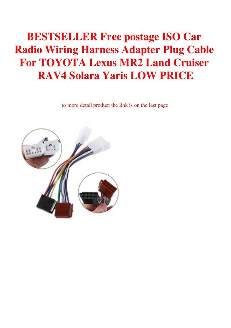 Bestseller Free Postage Iso Car Radio Wiring Harness