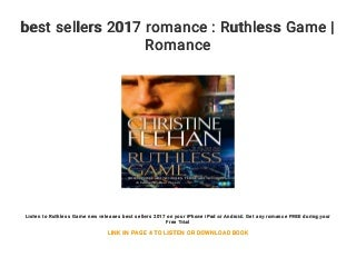 best sellers 2017 romance : Ruthless Game - Romance