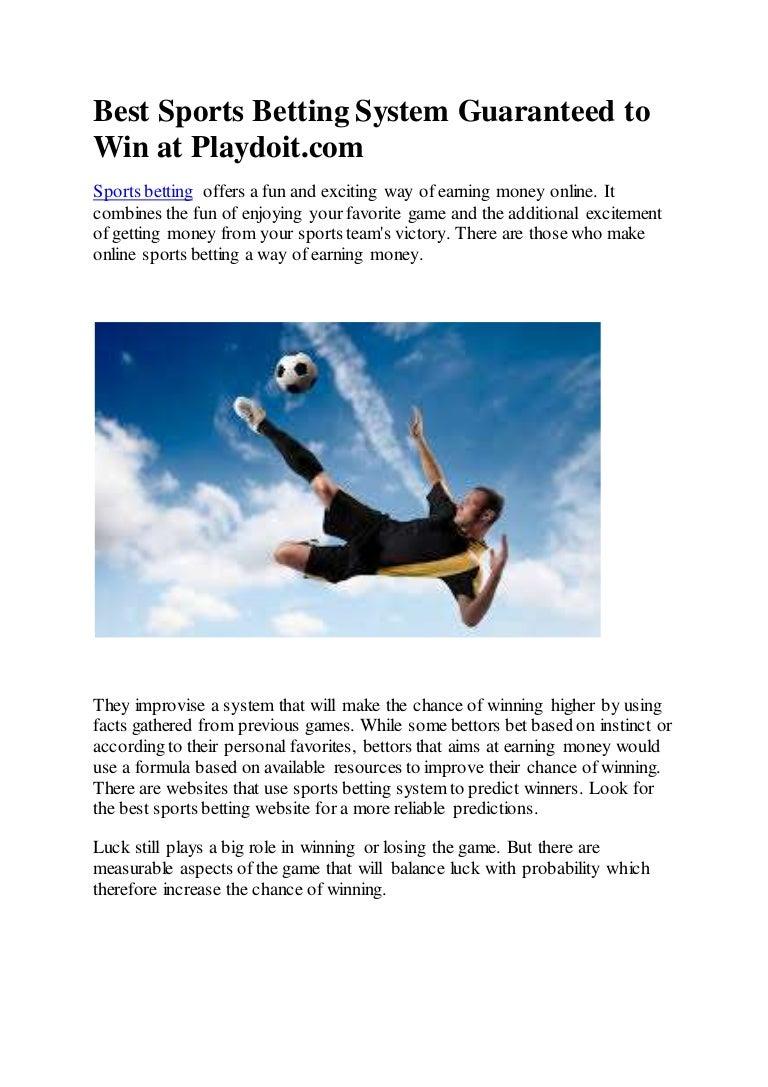 Guaranteed sports betting system bitcoins price 2009 f-150