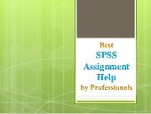Best SPSS Assignment Help by Professionals