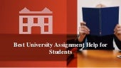 Best University Assignment Help for Students