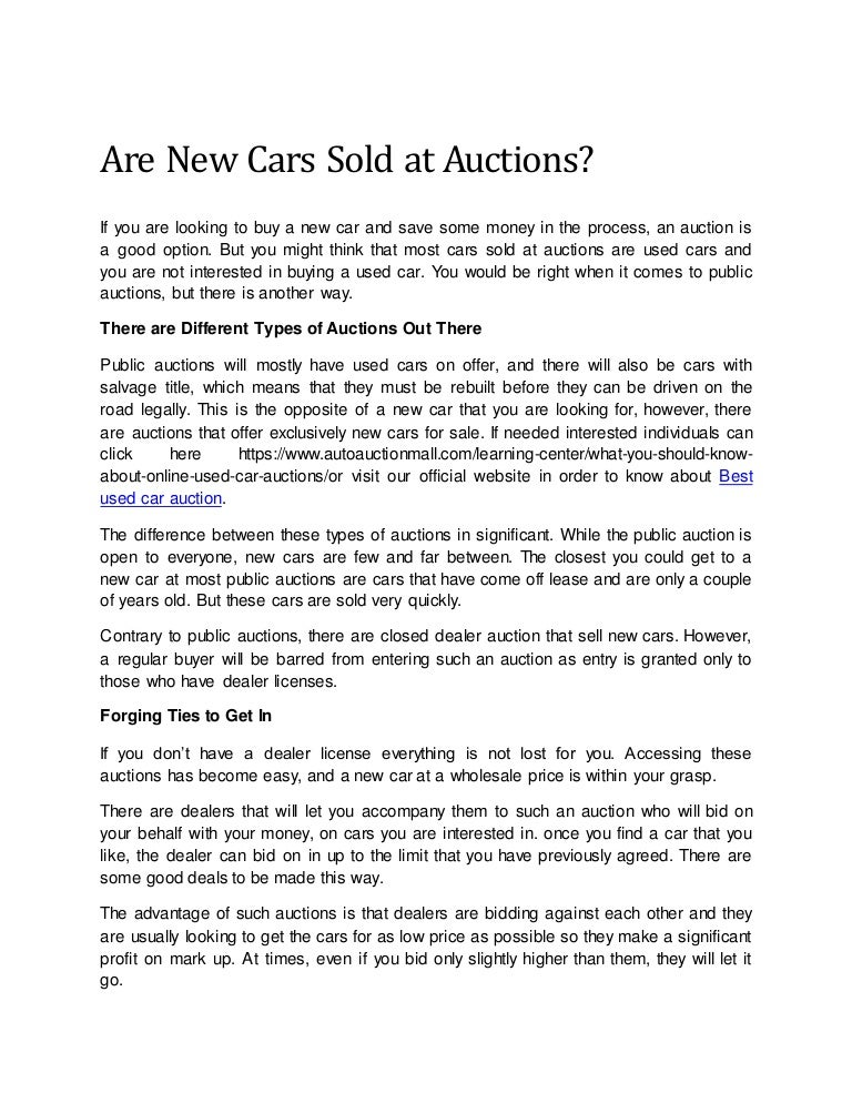 Car Auction License >> Best Used Car Auction