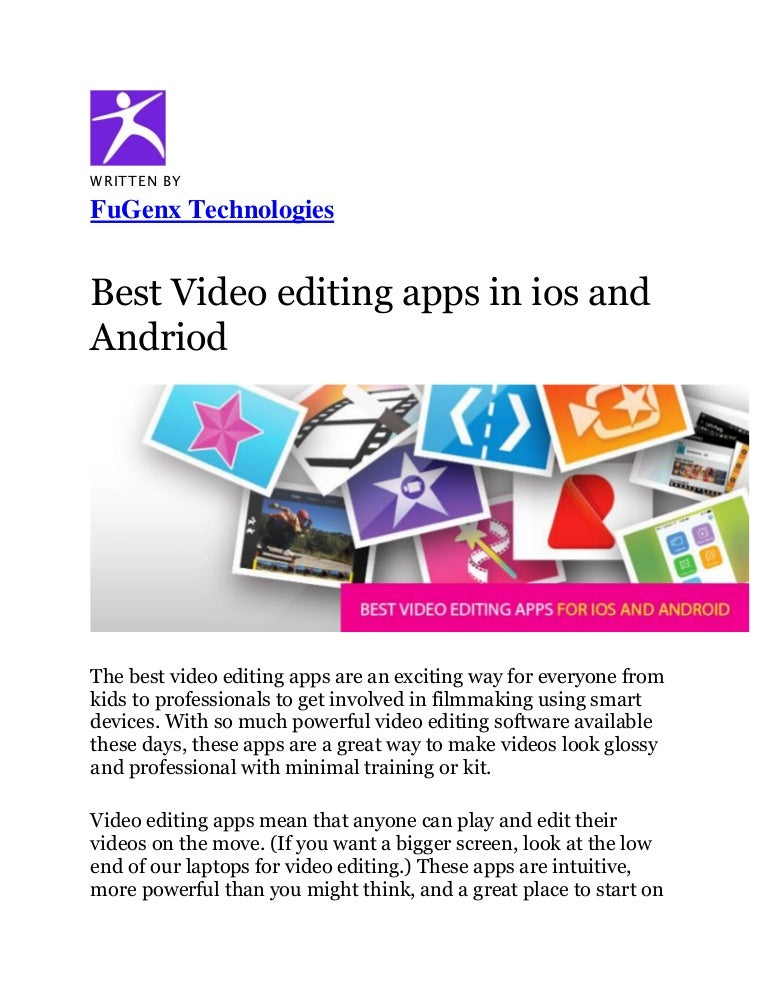 Best Video Editing Apps For 2019