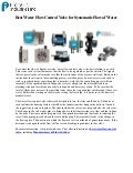 Best Water Flow Control Valve for Systematic Flow of Water