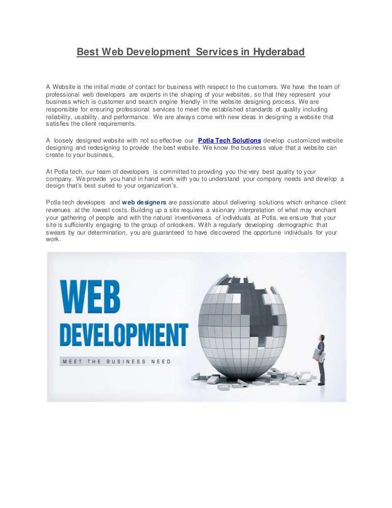 Best Web Development Services In Hyderabad Potla Services