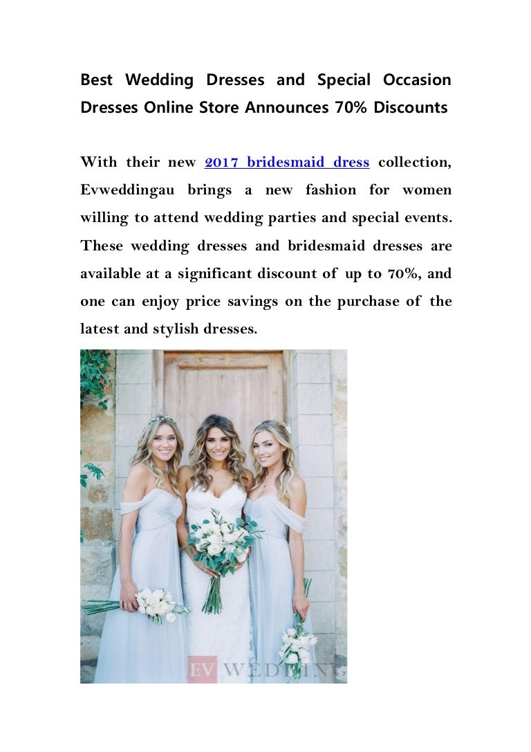 Best wedding dresses and special occasion dresses online store announ…