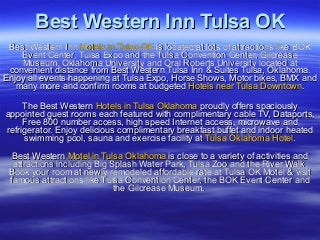 Hotels in Tulsa OK, Tulsa Oklahoma Hotel