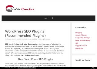 Best WordPress SEO Plugins and Tools That You Should Use