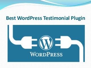 Best WordPress Testimonial Plugin - gSamdani.Com