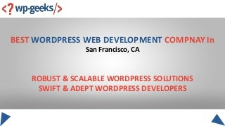 Best wordpress web development compnay in san francisco, ca