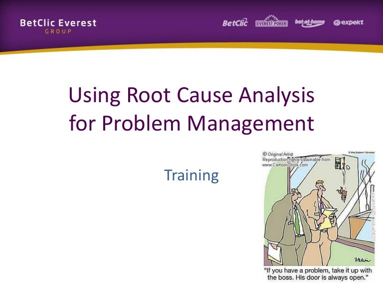Mini-Training: Using Root-Cause Analysis For Problem Management