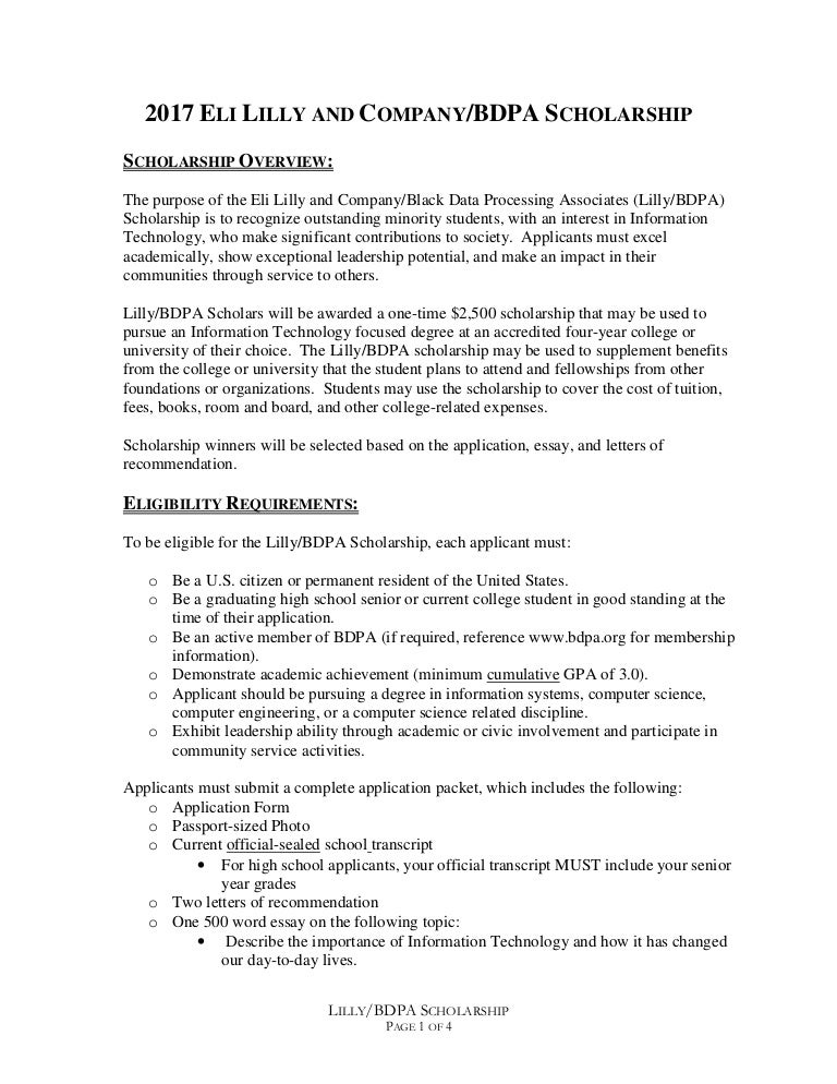 Expository Essay Thesis Statement  Essay On Science also Persuasive Essays Examples For High School Eli Lilly Scholarship For Bdpa Students  Healthy Food Essay