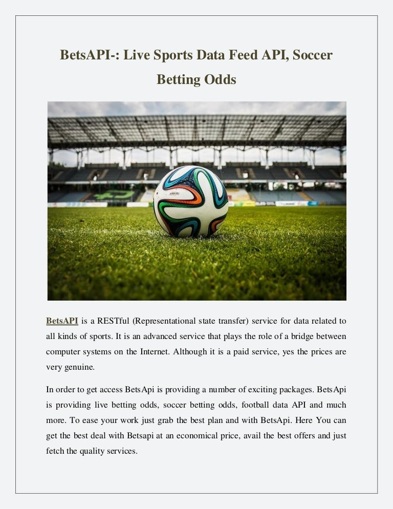 BetsAPI-: Live Sports Data Feed API, Soccer Betting Odds