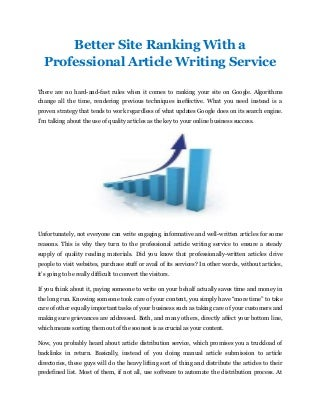 Article writing site