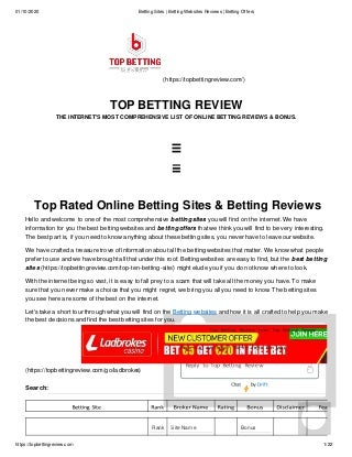 Betting sites betting websites reviews betting offers