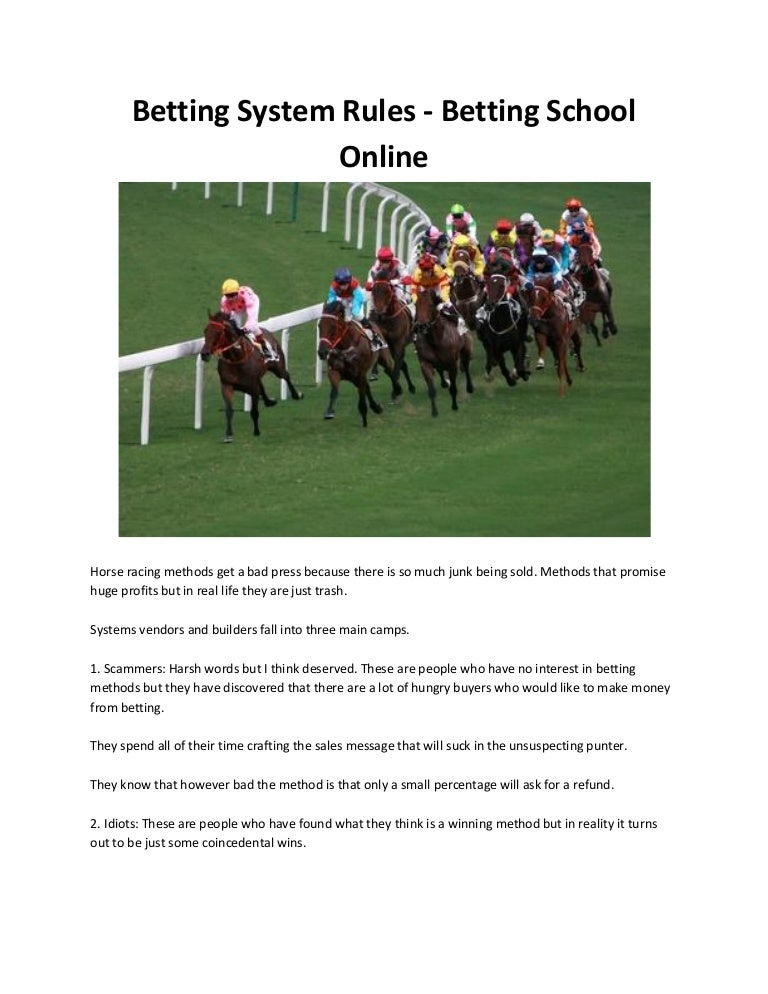 Rules on horse racing betting strategy lay betting systems reviews