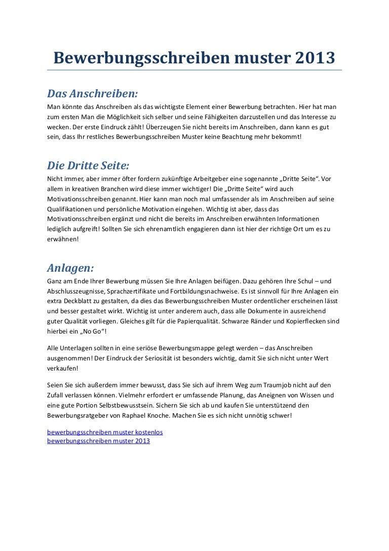 bewerbungsschreibenmuster2013