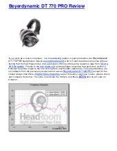Beyerdynamic dt 770 pro review | Best Headphones