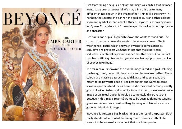 Beyonce poster analysis