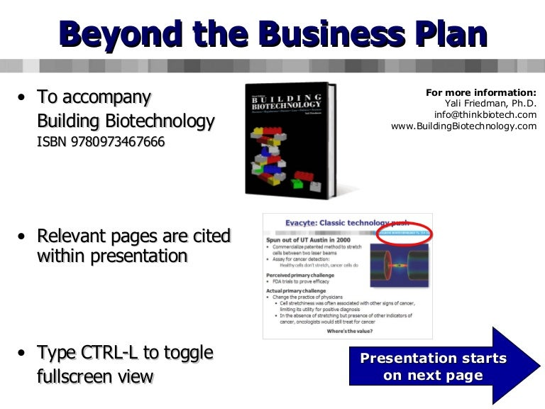 Beyond The Business Plan Managing Unexpected Risks In Biotechnology - Biotech business plan template