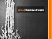 Beyond background checks