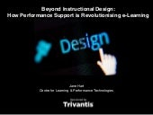 Beyond instructional design: how performance support is revolutionizng e-learning