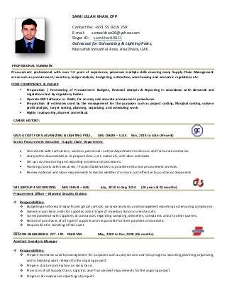Procurement Resume procurement resume Procurement Executive Linkedin